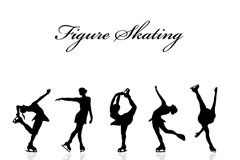 Figure skating figures silhouette vector
