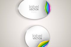 Elliptic rounded corners sticker vector