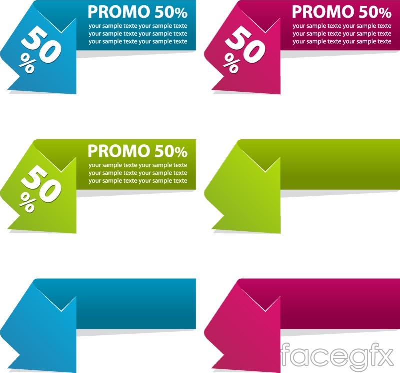 Elegant arrow sale tag vector | Free download