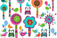 Cartoon child color tag vector