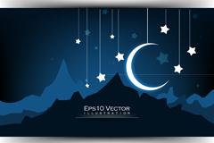 Exquisite Crescent vector illustration