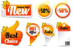9 classy fall sale tag vector