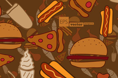 Cartoon fast food vector illustration