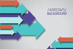 Color of arrow background vector