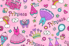 Cute Princess background vector