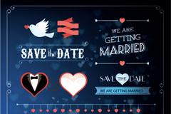 Exquisite wedding label pattern vector