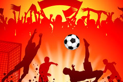 Football people silhouette vector background