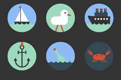 9 navigational element icon vector