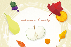 Autumn fruit vector illustration