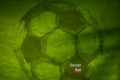 Creative football poster design vector