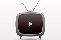 Creative television TV vector