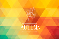 Geometric abstract autumn background vector