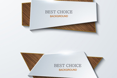 Polygon folding wood-grain banner vector