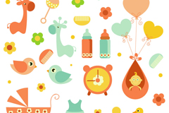 Cartoon baby design vector