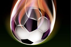 Creative flame football background vector