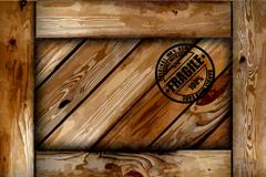 Creative wooden background vector