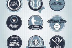 Round baseball tag vector