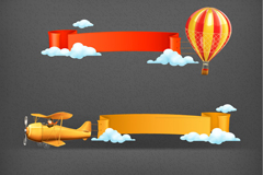 3 cartoon fly tool banner vector