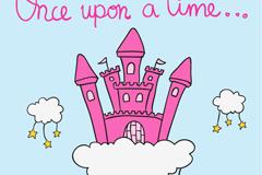 Cartoon cloud Castle vector illustration