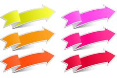 Colored arrows tag vector
