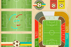 Exquisite football infographic vector