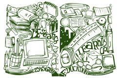 Creative learning books Illustrator vector