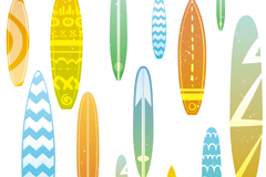 Fun surfboard design vector