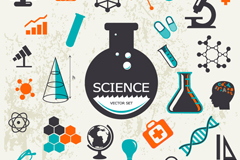 Vintage science design elements vector