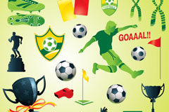 Fun football design elements vector
