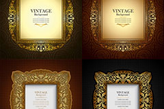 Ornate patterns decorative borders, vector