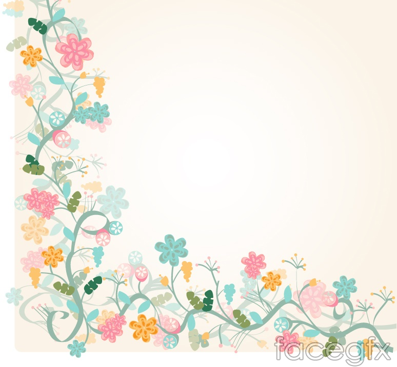 The Watercolor floral border background vector is a vector    Vector Floral Border