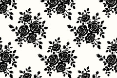 Beautiful black rose background vector