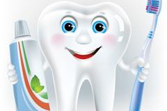Cartoon tooth design vector