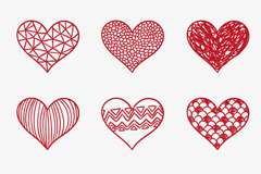 9 love Red pattern vector