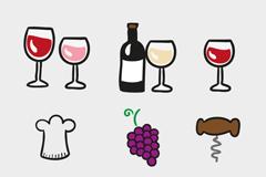 9 stick wine element icon vector