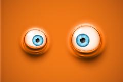 Creative realistic 3D blue eye vector illustration