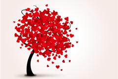 Beautiful loving tree vector