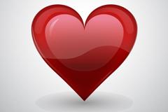 Red textured hearts design vector
