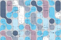 Vintage oval pattern background vector
