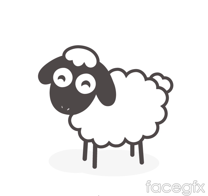 The Black sheep cartoon vector is a vector illustration and can be ...