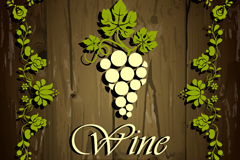Creative wine wood grain background vector
