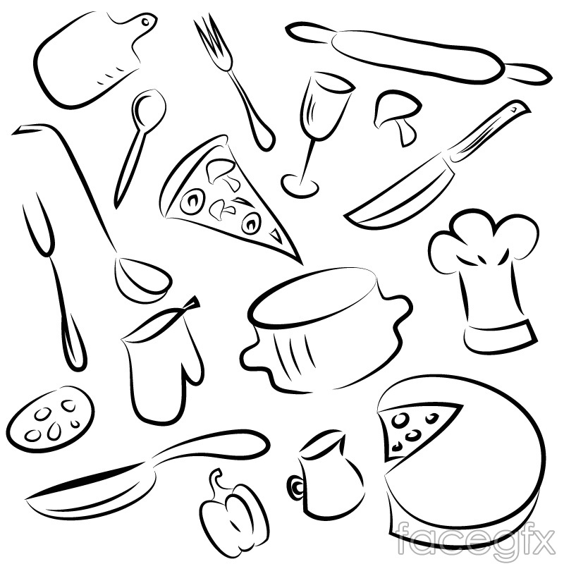 Kitchen Vector Free Download