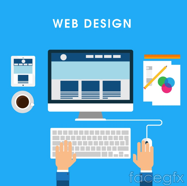Web Design Tools Vector Illustration Free Download