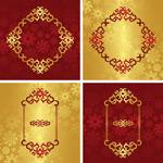 Beautiful golden pattern vector
