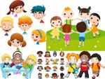 Children cartoon style vector