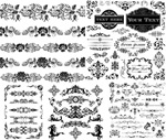 Black and white patterned borders 3 vector