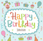 Colorful birthday poster vector