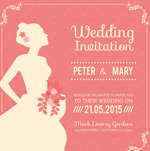 Bride wedding invitation vector
