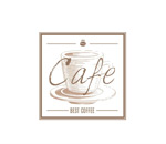 Hand-painted coffee label vector