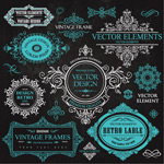 Pattern frame labels vector